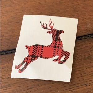 Plaid Deer decal Rae Dunn mug
